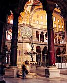 TURKEY, Istanbul, interior of Hagia Sophia Mosque