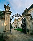 AUSTRIA, Halbturn, the entrance into Schloss Chateau, Burgenland
