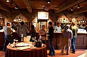 USA, California, enjoying the tasting room at Bartholomew Park winery and vineyard