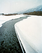 CANADA, Elk river and snow in the wintertime, Fernie