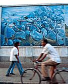 ERITREA, Asmara, murals depicting the Eritrean-Ethiopian War