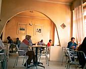 ERITREA, Asmara, an interior of Bar Zilli located on Shaida Square