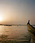 ERITREA, Massawa, a fisherman returns to shore after a day on the Red Sea