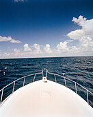 USA, Florida, bow of fishing boat on the Atlantic, Islamorada