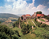 FRANCE, Franche-Comte, Chateau Chalon Abbey, a commune and Abbey in the Jura department of Eastern France where Vin Chateau Chalon was produced, Vin Jaune, Jura Wine Region