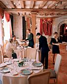 FRANCE, Arbois, interior of the Jean Paul Jeunet Restaurant, Jura Wine Region
