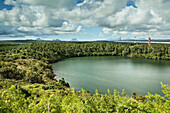MAURITIUS, Ganga Talaoor or Grand Bassin is a sacred crater lake situated in the mountains in the district of Savanne, considered the most sacred Hindu place in Mauritius, it has a 180 foot high bronze statue of Shiva