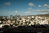 MAURITIUS, a late afternoon view of the capital city of Port Louis