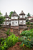 VIETNAM, Hanoi, Countryside, a garden planted in the back of a temple in the village of Y, Thanh Bac Ninh