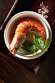 VIETNAM, Hue, a dish called Shrimp with five tastes served by Boi Tran at her home in Hue