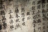 VIETNAM, Hue, a written prayer at the Tu Hieu Pagoda and monastery