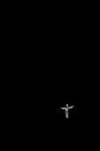 Cristo Blanco, Jesus statue in the dark, black night, Cusco, Cuzco, Peru, Andes, South America