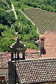 House roof in the mountain village of Motovun, Central Istria, Croatia