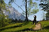 Karwendel mountain range near Kruen, Bavaria, Germany