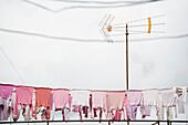 Clothes on the washing line, Palma de Mallorca, Majorca, Spain