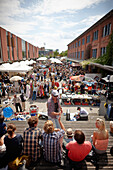 Fleamarket Flohschanze, saturdays near the old butchery building, between Schanze and Karolinen district, Hamburg, Germany