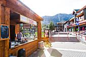 Donut stand, Heavenly ski area, South Lake Tahoe, California, USA