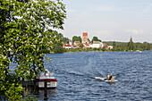 View to Lychen, Uckermark Lakes Nature Park, Uckermark, Brandenburg, Deutschland