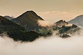 Blick ins Alpenvorland bei Maria Neustift, Bertelkogel, Oberösterreich, Österreich