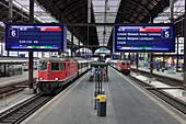 SBB Regional train, Basel City Railway Station, Centralbahnplatz, Canton Basel-Stadt, Switzerland, Europe