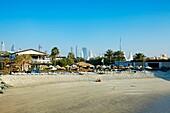 Dubai Marine Beach resort, Dubai City, Dubai, United Arab Emirates, Middle East.