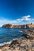 France, Corsica, Haute-Corse Department, La Balagne Region, Ile Rousse, Place Paoli, Eglise de Immaculee Conception church
