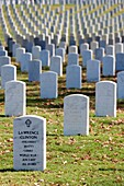 USA, Arkansas, Little Rock, Little Rock National Cemetery, soldiers´ gravestones
