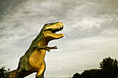 Dinosaur outside Museum in Drumheller, Alberta