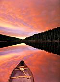 Sunrise Clouds over Winchell Lake, Alberta, Canada