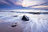 Artist's Choice: Waves on Lake Winnipeg at sunset, Lester Beach, Manitoba