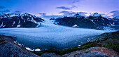Salmon Glacier at dusk, Northern British Columbia