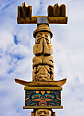Totem poles, New Aiyansh, British Columbia