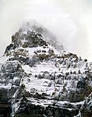 Mount Temple in Fog, Banff National Park, Alberta
