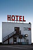 Small hotel in southern Alberta, Canada
