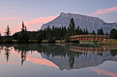 Footbridge and Cascade Ponds, Banff National Park, Alberta
