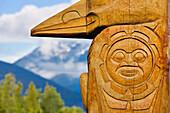 Totem poles, New Aiyansh, British Columbia
