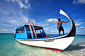 Republic of the Maldives, Medhu Province,  Dhaalu Atoll, Castaway Cay, Boat