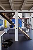 France, Charente-Maritime, Île de Ré, inside of a modern house, living room