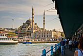 Republic of Turkey, Istanbul, The Galata Bridge, The New Mosque