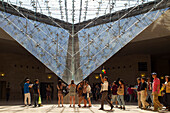 France, Paris, 1st arrt,  Louvre Museum, The Inverted Pyramid designed by Ieoh Ming Pei