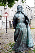 France, Loire Atlantique, Nantes, city center, sculpture of Anne, Duchess of Brittany, Queen of France