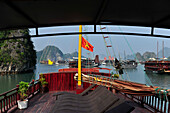 Luxury junk on Halong Bay, North Vietnam, Vietnam, South East Asia, Asia