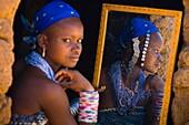 Benin, Alibori Department, Kuru, Alou Salamakou of Fula ethnic group