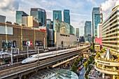 Japan, Tokyo City, Ginza District, Harajuku Satation, Bullet Train