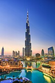 United Arab Emirates (UAE), Dubai City, Down Town Dubai, Burj Khalifa Bldg.