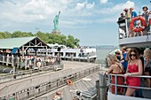 New York - Ferries transporting the visitors of the Statue of Liberty