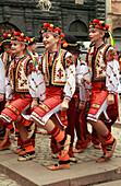 Ukraine, Lviv, folklore, dancers, people