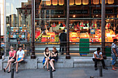 Spain, Madrid,  Mercado de San Miguel, market, people