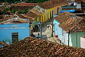 View of Trinidad street, one of UNESCOs World Heritage sites since 1988, Sancti Spiritus Province, Cuba