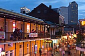 BOURBON STREET FRENCH QUARTER DOWNTOWN NEW ORLEANS LOUISIANA USA